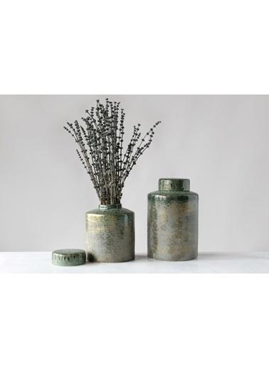 Warm Design Porselen Kavanoz Yeşil